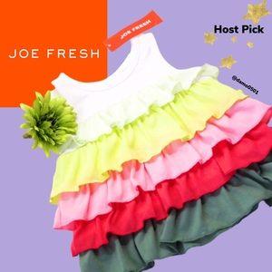 NWT Joe Fresh Multicolor Sleeveless Ruffle Dress